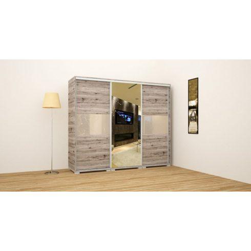 LUX Exclusive / magasfényű gardrób tükörrel (239 cm)